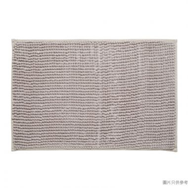 短毛浴室地墊400W x 600Dmm - 淺灰色