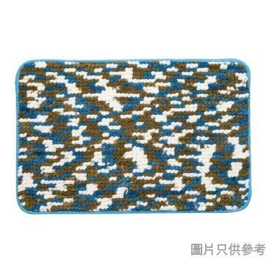 短毛雪絨浴室地墊380W x 580Dmm - 藍配綠配白色
