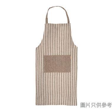 豎條粗棉圍裙, 咖色