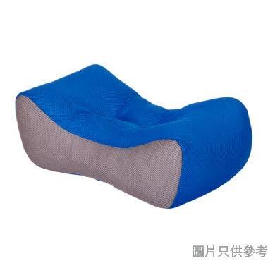 腰墊40W x 23Dcm - 藍色配灰色