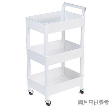 MYROOM韓國製塑膠3層架手推車460W x 330D x 860Hmm - 白色