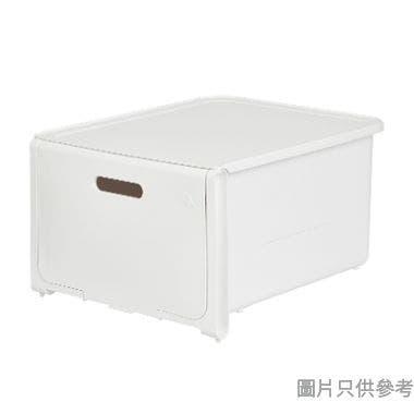 ROOMAX韓國製拉蓋式可堆疊塑膠抽屜361W x 286D x 207Hmm - 白色