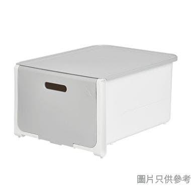ROOMAX韓國製拉蓋式可堆疊塑膠抽屜361W x 286D x 207Hmm - 灰色