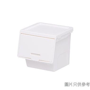 ROOMAX韓國製迷你塑膠儲物盒113W x 106D x 102Hmm - 白色