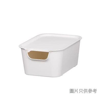 EL Living韓國製塑膠附蓋儲物盒細256W x 181D x 110Hmm - 白色