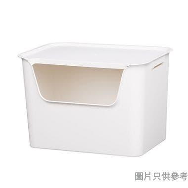 EL Living韓國製塑膠附蓋儲物盒大375W x 262D x 255Hmm - 白色