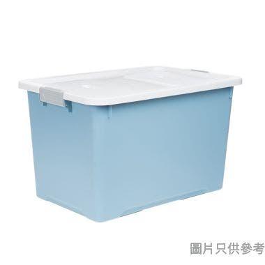Prime Living韓國製塑膠附蓋儲物箱大607W x 407D x 368Hmm - 淺藍色
