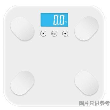 玻璃體重分析電子磅280W x 280D x 24Hmm - 白色