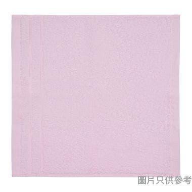 SOHO NOVO 全棉淨色方巾350W x 350Dmm - 粉紅色