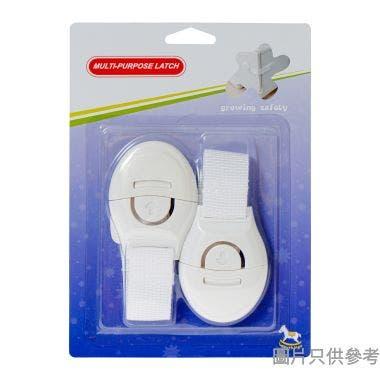 多功能櫃門鎖LH04 (2件裝) - 白色