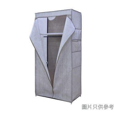 單門不織布可摺疊衣櫃750W x 450D x 1600Hmm - 啡色