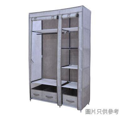 雙門不織布可摺疊衣櫃1100W x 450D x 1750Hmm - 啡色