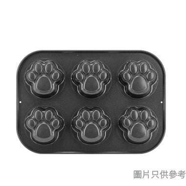 Truefun煮角蛋糕模KW-031-26 (6孔) - 動物小足印