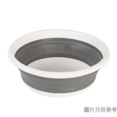 圓形折疊水盆9L 375W x 375D x 135Hmm - 灰白色