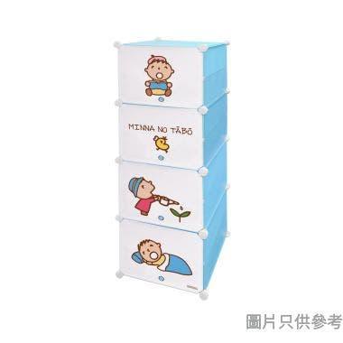 Minna No Tabo 4層附間隔塑膠儲物櫃  440W x 315D x 1250Hmm SA-4SC-6(TA)