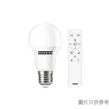 SUNSHINE 陽光8W E27 LED遙控球膽套裝 LRGA-8Wset - 黃白光