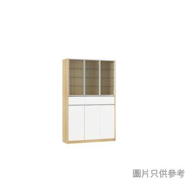 Staple 47吋高身玻璃儲物櫃  - 橡木色