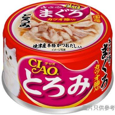 Ciao日本製貓罐頭80g - 濃湯雞肉+吞拿魚+鰹魚節