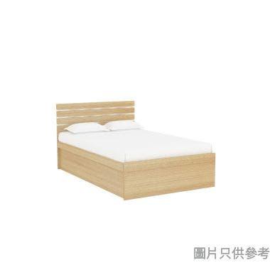 Staple 48吋x72吋波浪紋木屏儲物箱油壓床 - 橡木色配銀色