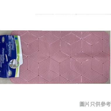 菱形浴室吸盤防滑墊700W x 370D x 4Hmm 9488B - 粉色