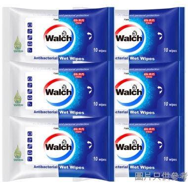 Walch威露士蘆薈消毒濕紙巾(6袋裝)