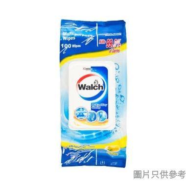 Walch威露士多用途家居表面消毒濕紙巾(100片裝) - 檸檬味