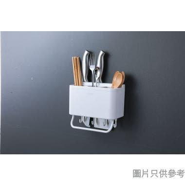 壁掛式塑膠筷子筒108W x 200D x 180Hmm - 白色