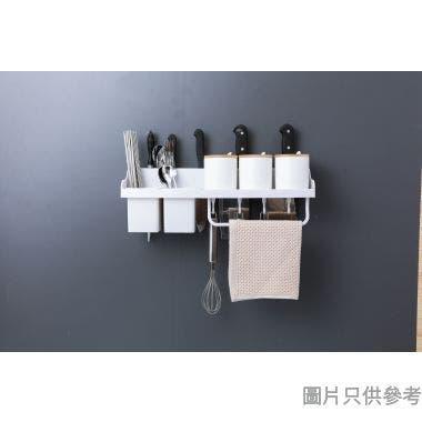 壁掛式塑膠廚房置物架455W x 135D x 135Hmm - 白色