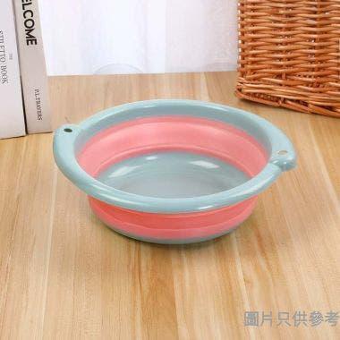圓形摺疊水盆 7L 400W x 365D x 125Hmm - 粉紅色