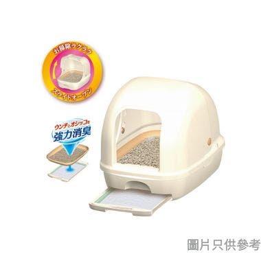 Unicharm日本製全封閉型貓砂盤套裝 - 白色
