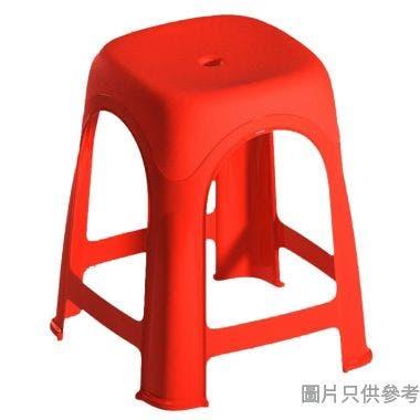 塑膠磨砂方形疊凳 390W x 390D x 460Hmm 109001 - 紅色