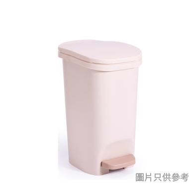 塑膠窄身緩降腳踏垃圾桶12L 1902 - 卡其色