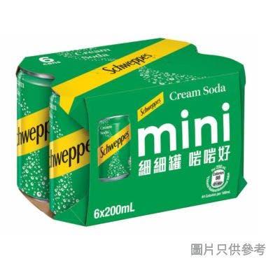 玉泉忌廉味汽水迷你罐 200ml (6罐裝)