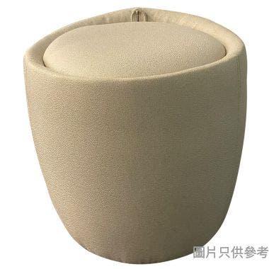 圓形儲物凳370W x 370D x 375Hmm - 淺灰色