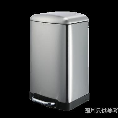 不鏽鋼長方形緩沖防指紋腳踏垃圾桶20L 300W x 290D x 525Hmm 74579-002