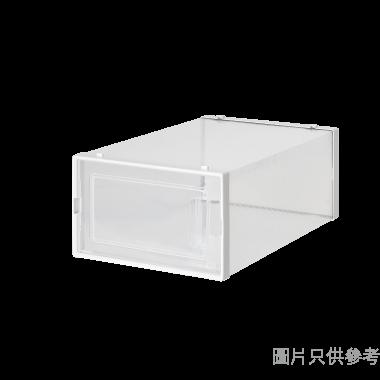 塑膠鞋盒(2件裝) 334W x 230D x 140Hmm 3L-901-2(細) - 白色