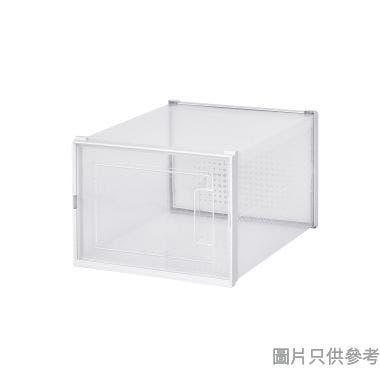 塑膠鞋盒(2件裝) 360W x 280D x 210Hmm 3L-903-2(大) - 白色