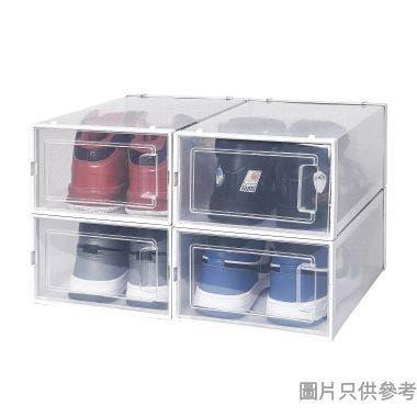塑膠鞋盒(4件裝)334W x 230D x 140Hmm 3L-901-4(細) - 白色