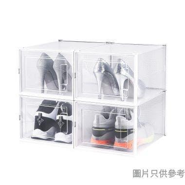 塑膠鞋盒(4件裝)360W x 280D x 210Hmm 3L-903-4(大)- 白色