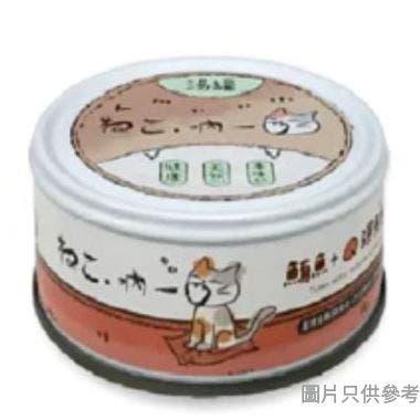 吶一口泰國製無添加無穀貓湯罐80g - 吞拿魚鮮蝦