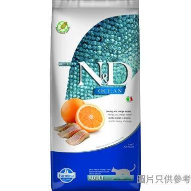 N&D法納米意大利製成貓糧10kg - 魚及橙