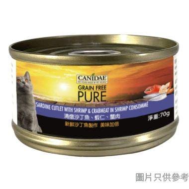 CANIDAE沙丁魚蝦蟹無穀貓罐頭70g