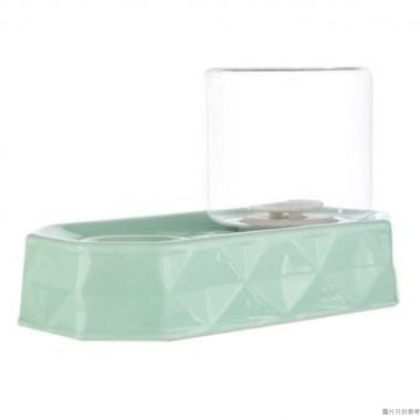 Peg Cat不濕咀陶瓷飲水器5W x 23D x 17Hcm - 綠色