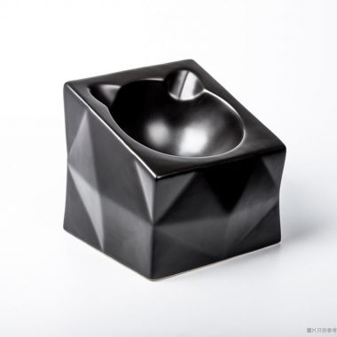 Peg Cat方形光影碗 - 黑色