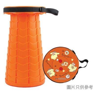 Pompompurin便攜式摺疊圓凳250W x 250D x 65-450Hmm SA-PFS-5(PN) - 橙色