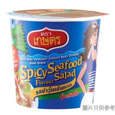 Kaset泰國製即食乾撈粉絲 (3杯裝) - 辣海鮮沙律味