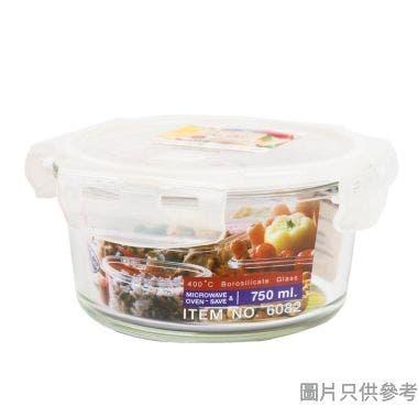 Super Lock 泰國製圓形玻璃食物盒 750ml 6082