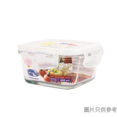 Super Lock 泰國製正方形玻璃食物盒 400ml 6085