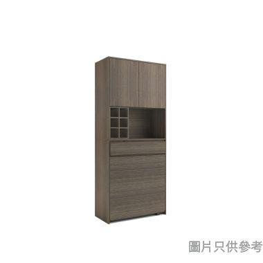 STAPLE 高身廳櫃連摺檯800W x 400D x 1900Hmm - 胡桃色
