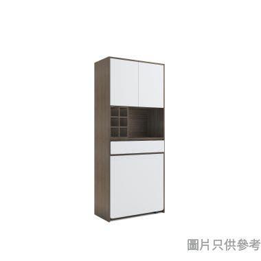 STAPLE 高身廳櫃連摺檯800W x 400D x 1900Hmm - 胡桃色配白色